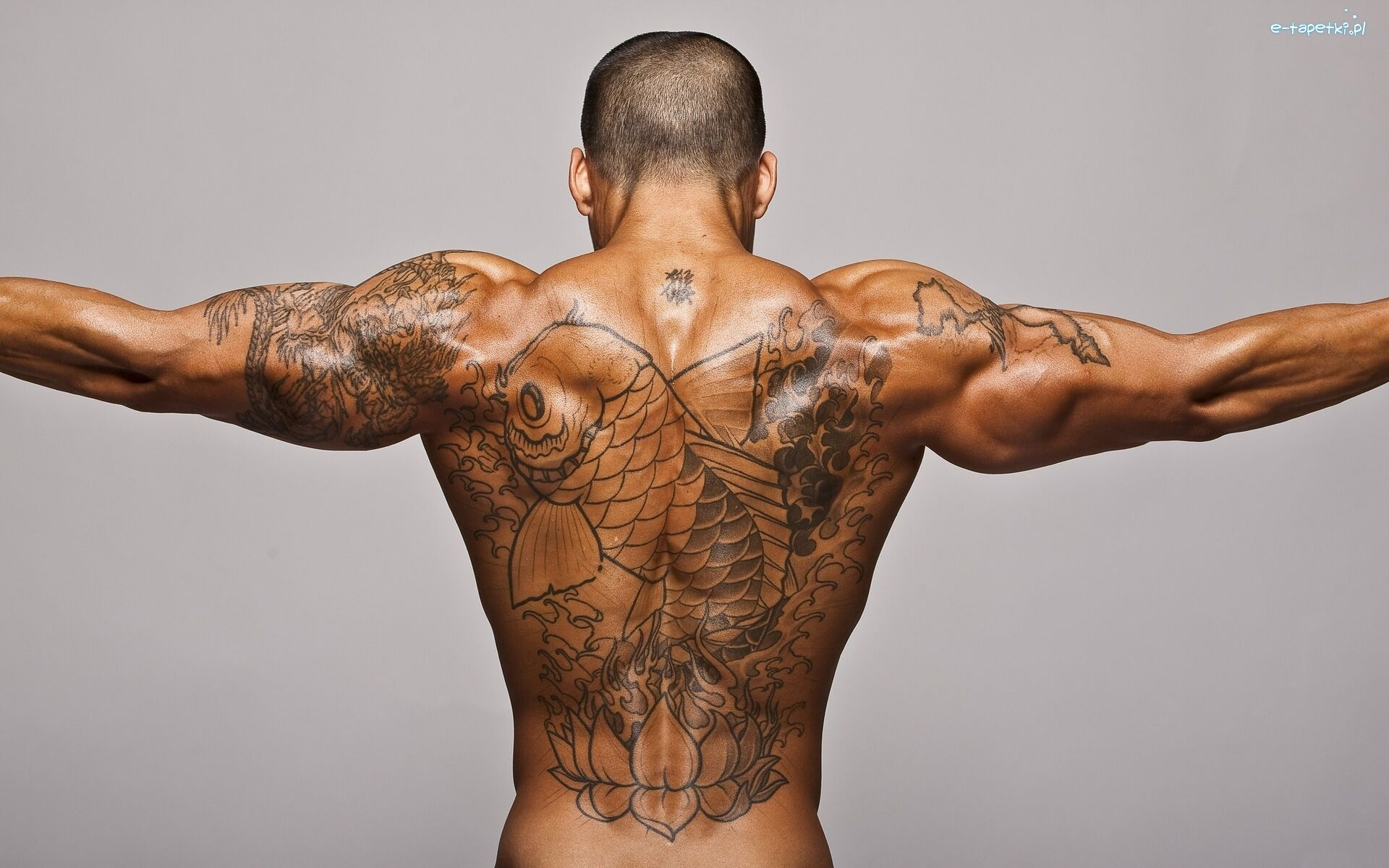 Mężczyzna Tatuaż Ryba