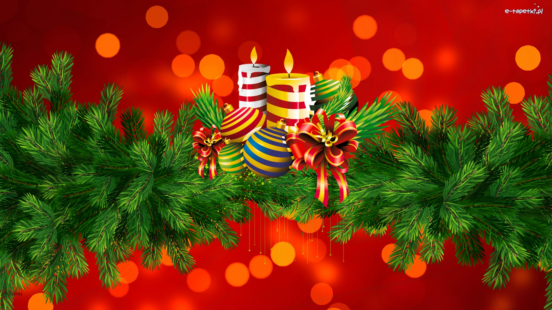Gałązki, Dekoracja, Świąteczna, Grafika